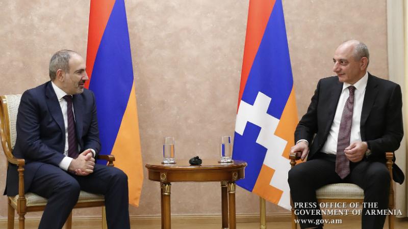 Արցախում տեղի է ունեցել Նիկոլ Փաշինյանի և Բակո Սահակյանի առանձնազրույցը