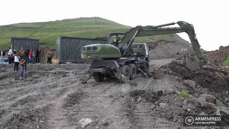 ՀՀ պետական սահմանի արևելյան հատվածում կահավորման և ինժեներական ինտենսիվ աշխատանքներ են ընթանում