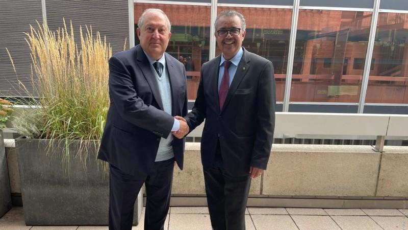 Արմեն Սարգսյանը հանդիպել է Առողջապահության համաշխարհային կազմակերպության գլխավոր տնօրենի հետ