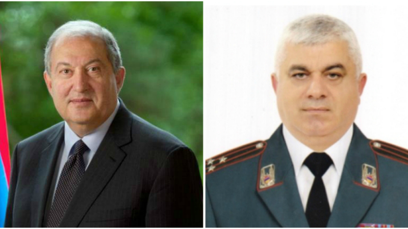 Արմեն Սարգսյանի հրամանագրով ոստիկանության պետի առաջին տեղակալ է նշանակվել