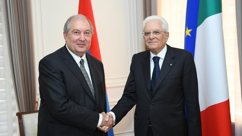 Նախագահ Սարգսյանը շնորհավորել է Սերջիո Մատարելլային