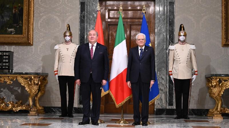 Տեղի է ունեցել Հայաստանի և Իտալիայի նախագահների առանձնազրույցը (տեսանյութ)