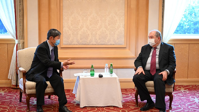 Նախագահ Սարգսյանն ու JICA-ի նախագահը փոխգործակցության ընդլայնման հնարավորություններն են քննարկել