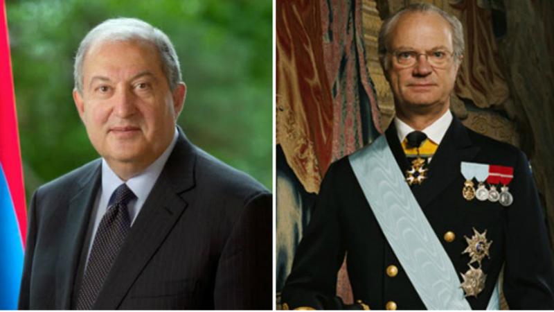 Արմեն Սարգսյանը շնորհավորել է Շվեդիայի թագավորին ծննդյան 75-ամյակի առթիվ