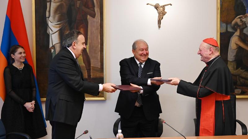 Հայաստանի և Սուրբ Աթոռի միջև ստորագրվել է մշակույթի ոլորտում համագործակցության մասին փոխըմբռնման հուշագիր (տեսանյութ)