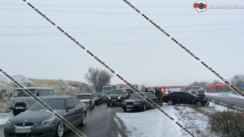 Երևան-Սևան ավտոճանապարհին ավելի քան 35 ավտոմեքենաներ բախվել են իրար