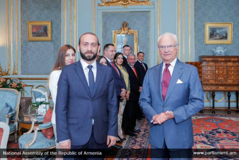 ՀՀ ԱԺ նախագահը և Շվեդիայի թագավորը առանձնազրույց են ունեցել