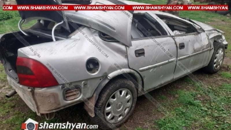 Տավուշում անչափահաս տղան Opel-ով բախվել է հողաթմբին և կողաշրջվել. նրան ու հասակակից ուղևորին տեղափոխել են հիվանդանոց