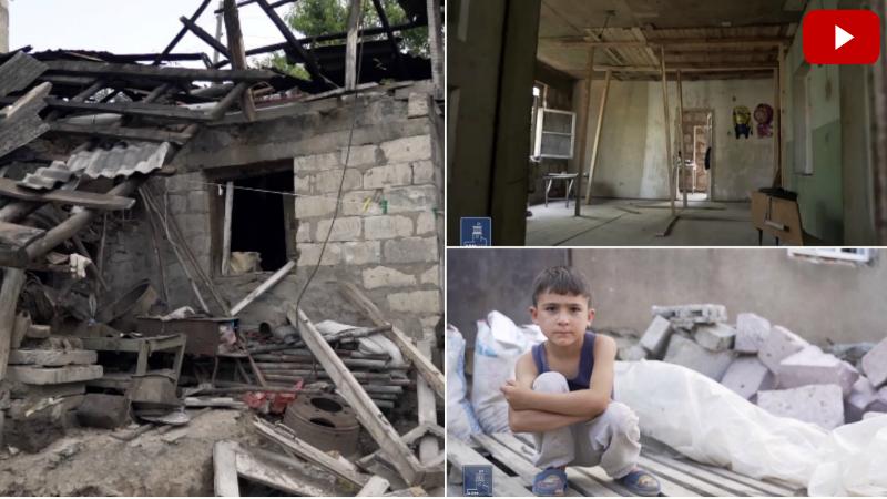Ինչպես են ընթանում Տավուշի մարզում հրետանակոծությունից տուժած շինությունների վերականգնման աշխատանքները (տեսանյութ)