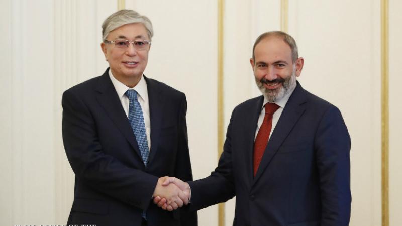 Ձեր ղեկավարությամբ Հայաստանը հաջող իրականացնում է սոցիալ-տնտեսական կարևոր վերափոխումներ. Ղազախստանի նախագահը՝ Նիկոլ Փաշինյանին
