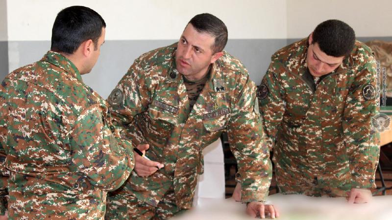 4-րդ զորամիավորման զորամասերում անցկացվել են շտաբային մարզումներ