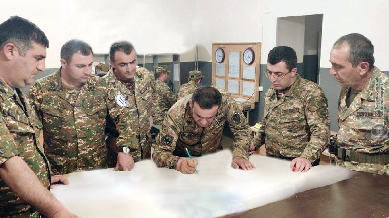 4-րդ զորամիավորումում անցկացվել են շտաբային մարզումներ