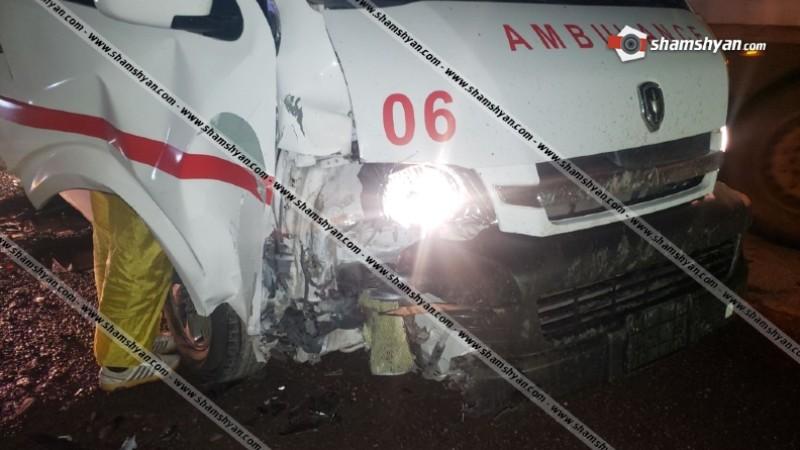 Սյունիքի մարզում վթարի է ենթարկվել կորոնավիրուսով վարակվածին տեղափոխող շտապօգնության ավտոմեքենան