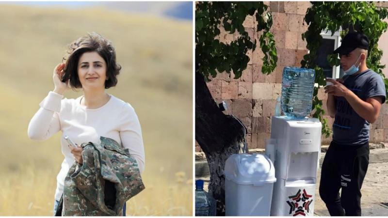 Հանրապետական կենտրոնական հավաքակայանի տարածքում տեղադրվել են ջրի դիսպենսերներ՝ զորակոչիկներին անվճար խմելու ջրով ապահովելու համար․ Շուշան Ստեփանյան (լուսանկարներ)