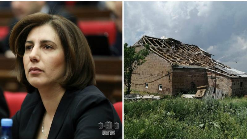 Շիրակի մարզի Գեղանիստ գյուղում փոթորիկից անգամ տներ են քանդվել. պատգամավորն ահազանգում է (լուսանկարներ)