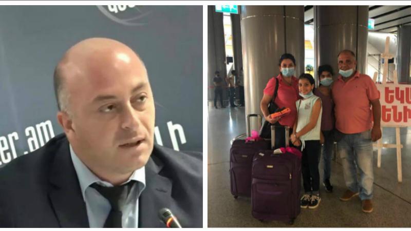 Երեկ Բեյրութից Հայաստան են վերադարձել շուրջ 100 հայ, այդ թվում՝ 21 երեխա. Հովհաննես Ալեքսանյան