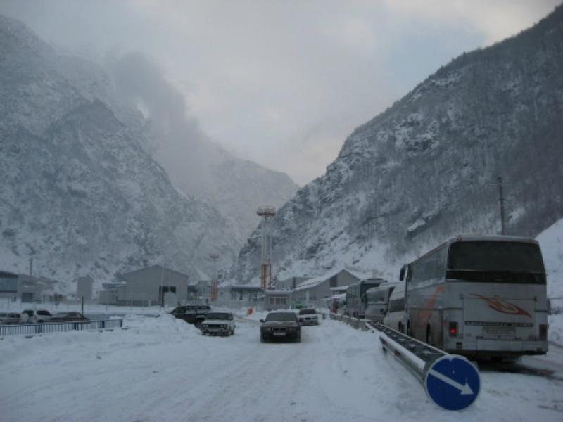 Ստեփանծմինդա-Լարս ավտոճանապարհը փակ է բեռնատար ավտոմեքենաների համար. ռուսական կողմում կա կուտակված 120 բեռնատար