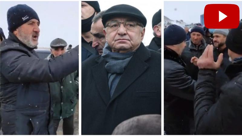 Սյունեցիները փակել են ճանապարհը Վազգեն Մանուկյանի և 17 կուսակցությունների անդամների առջև (տեսանյութ)
