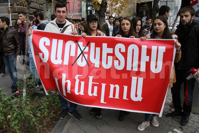 Ուսանողները դիմել են ծայրահեղ քայլի. 5 ակտիվիստ հացադուլ է հայտարարել