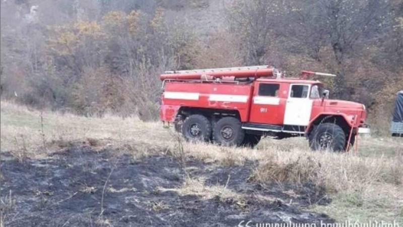 Տավուշի մարզում այրվել է մոտ 10 հա խոտածածկույթ