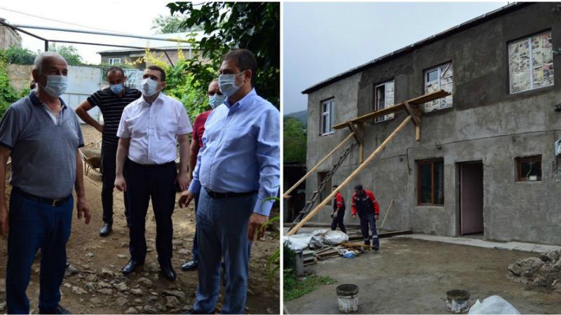 Սահմանապահ Այգեպար և Ներքին Կարմիրաղբյուր գյուղերի հրետակոծված տներից մի մասի վերանորոգումն արդեն ավարտական փուլում է. Տավուշի մարզպետարան