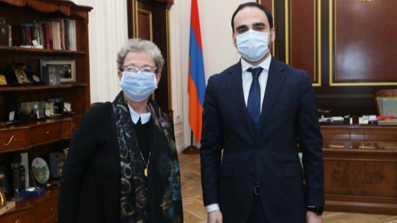 Տիգրան Ավինյանն ընդունել է Հայաստանում ԵՄ դեսպան Անդրեա Վիկտորինին
