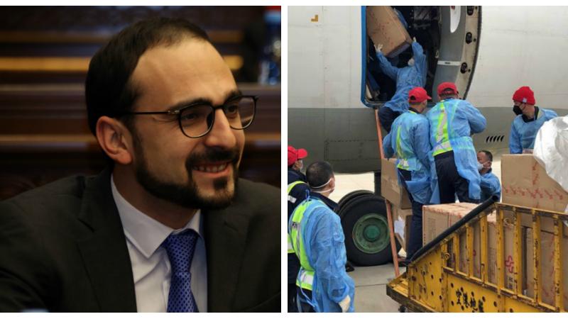 Ժամեր անց Երևանում վայրէջք կկատարի բժշկական պարագաների և սարքավորումների խմբաքանակը.  Տիգրան Ավինյան