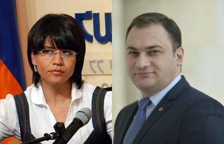 Վլադիմիր Հակոբյանն ու Զոյա Բարսեղյանն ազատվել են աշխատանքից