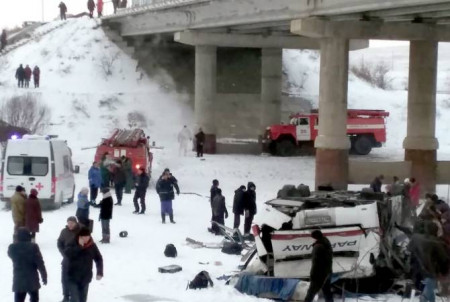 Անդրբայկալում սուգ է հայտարարվել ՃՏՊ-ի հետեւանքով 19 մարդու զոհվելուց