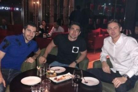 Հենրիխ Մխիթարյանը և Նեմանյա Մատիչը հանդիպել են Ռոբերտ Քոչարյանի որդու հետ