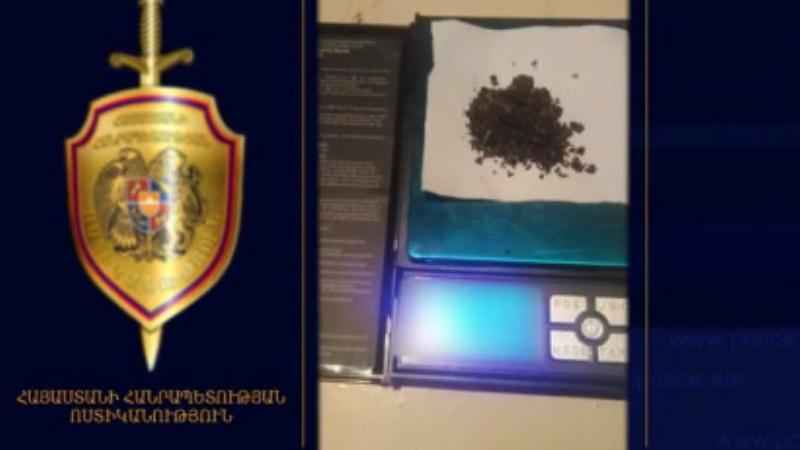 30-ամյա տղամարդու մոտ խուզարկությամբ թմրանյութ է հայտնաբերվել