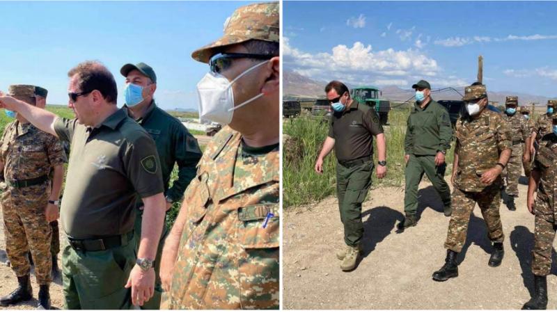 Դավիթ Տոնոյանն այցելել է ՀՀ հարավ-արևմտյան սահմանագոտի, որտեղ ՀՀ ԶՈւ-ը տեղադրել են նոր մարտական հենակետ․ ՊՆ խոսնակ (լուսանկարներ)