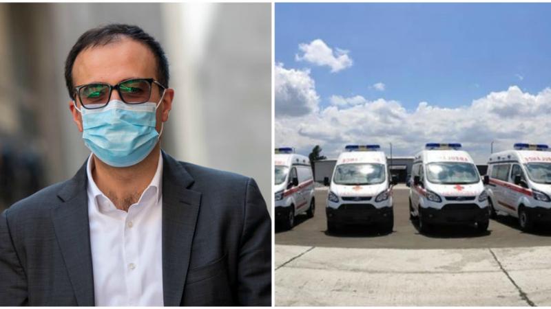 Այս նոր շտապօգնության մեքենաները տրամադրվելու են Արցախի առողջապահության նախարարությանը. Արսեն Թորոսյան
