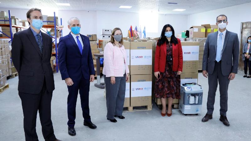 ԱՄՆ ՄԶԳ-ն և ԱՀԿ-ն առողջապահության նախարարությանն են նվիրաբերել ևս 150 թթվածնի խտացուցիչ սարք