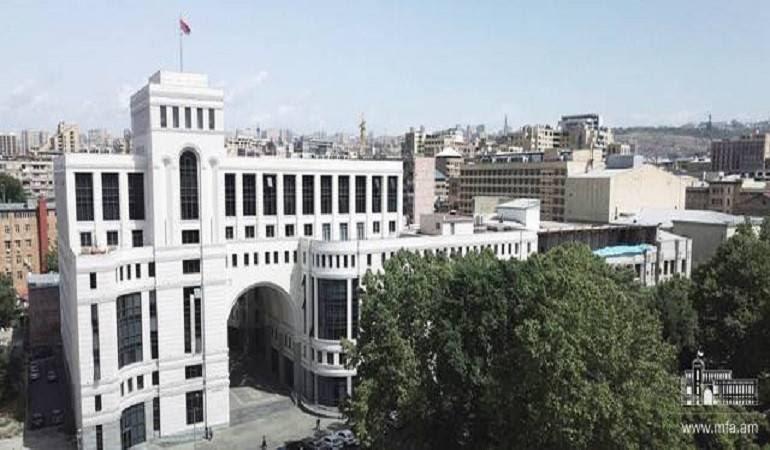 Հայաստանը հանդես է գալիս բացառապես խաղաղ միջոցներով իրադրության լիցքաթափման դիրքերից․ ԱԳՆ