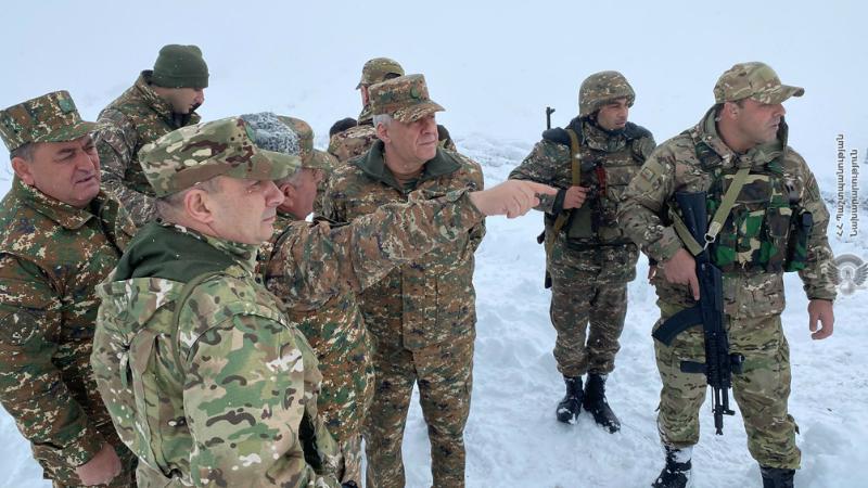 Վաղարշակ Հարությունյանն այցելել է հարավարևելյան սահմանագոտի. նախարարը հանձնարականներ է տվել ստորաբաժանումների հրամանատարներին