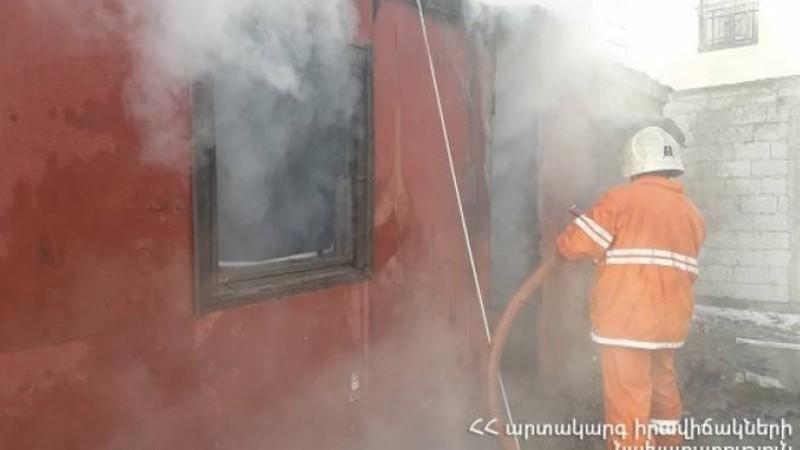 Երևանում վագոն-տնակ է այրվել