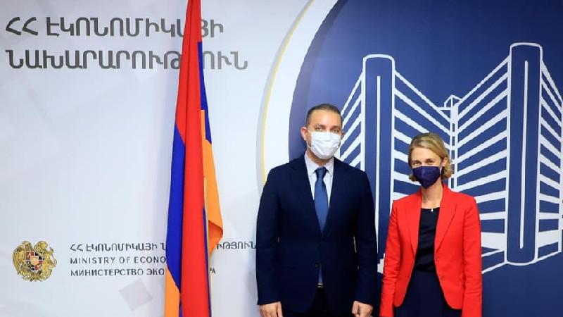 Վահան Քերոբյանը հանդիպել է Համաշխարհային Բանկի Հայաստանյան գրասենյակի նոր ղեկավարին