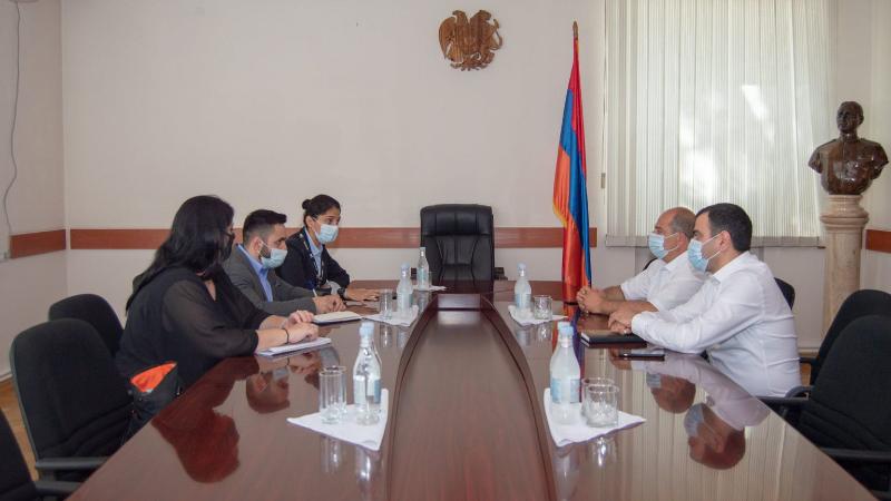 Տավուշի մարզպետն ընդունել է Հայաստանում Կարմիր խաչի միջազգային կոմիտեի պատվիրակության անդամներին