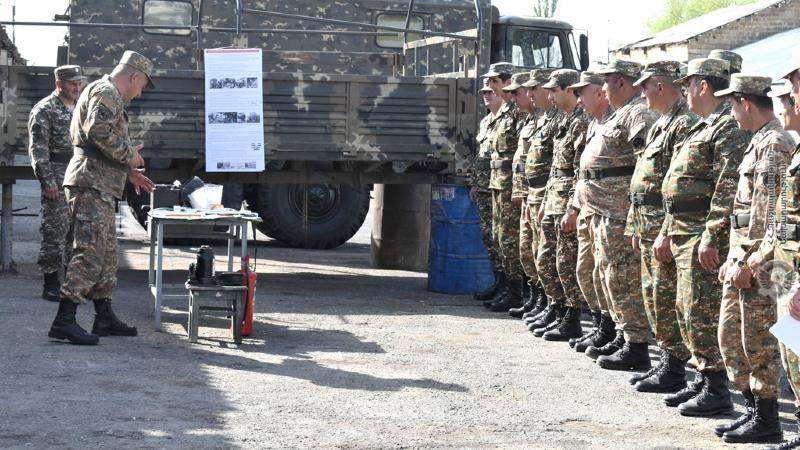 5-րդ զորամիավորման զորամասերից մեկում անցկացվել են անվտանգության կանոնների պահպանման պարապմունքներ