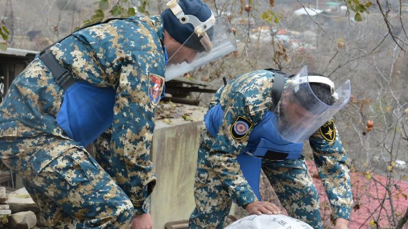 Արցախի տարածքից հայտնաբերվել և վնասազերծվել են հազարավոր պայթուցիչներ և թնդանոթի արկեր