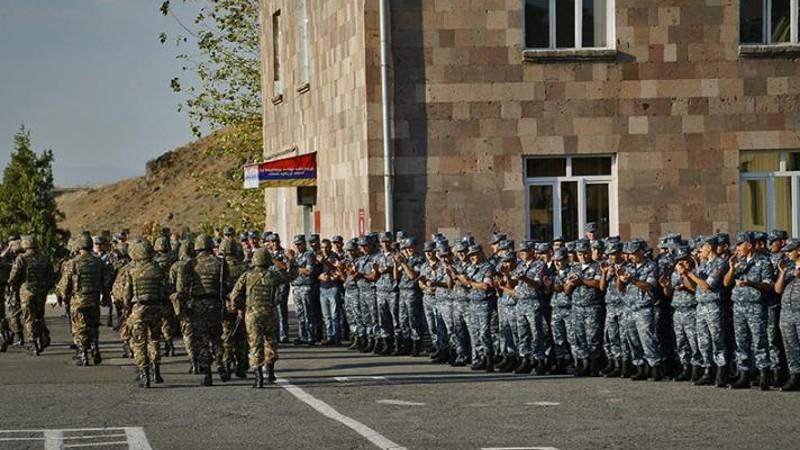 Հերթական անգամ տեղի ունեցավ ոստիկանության զորքերի մարտական հերթապահության հերթափոխը