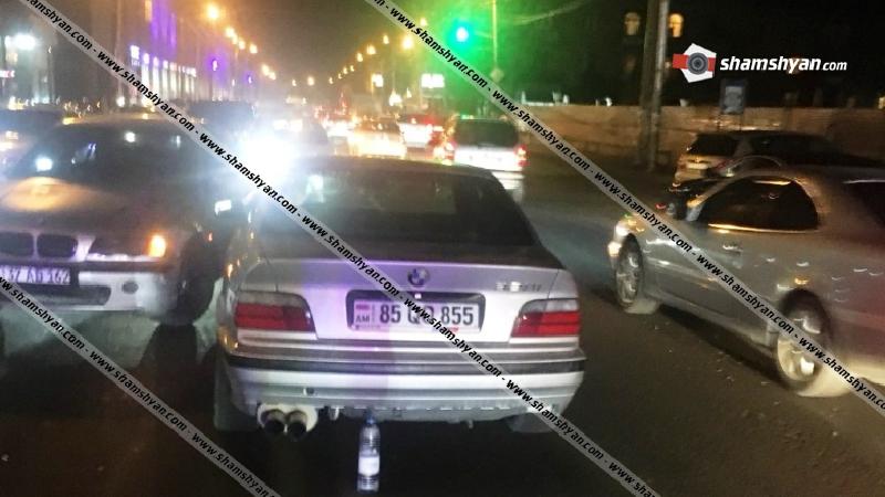 Երևանում 30-ամյա վարորդը BMW-ով վրաերթի է ենթարկել 2 հետիոտնի, ապա բախվել մեկ այլ BMW-ի. կան վիրավորներ