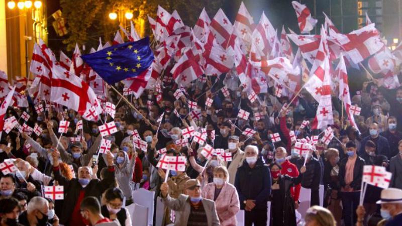 Վրաստանի ընդդիմությունը չի ճանաչում ընտրությունների արդյունքները. խորհրդարանի դիմաց ցույց է