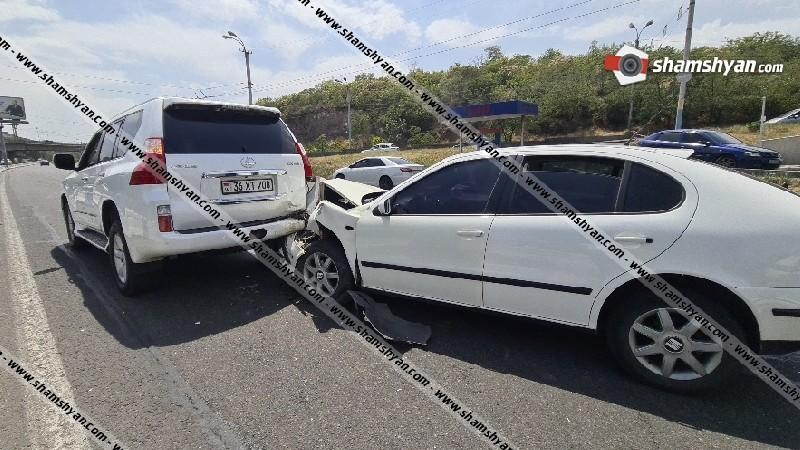 Ավտովթար Երևանում. 28-ամյա դերասանը Seat Leon-ով բախվել է Lexus-ին. կան վիրավորներ