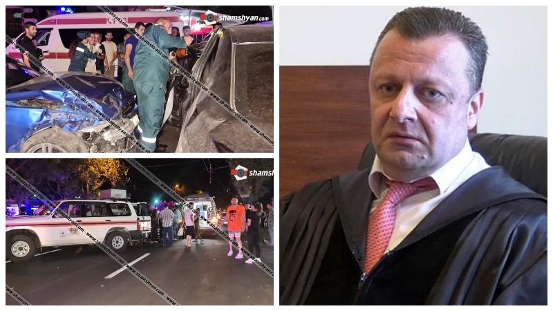 Բաղրամյանում «BMW»-ների վթարի վիրավորներից մեկը դատավոր Ազարյանի որդին է