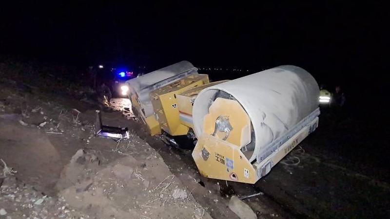 Ասֆալտ հարթեցնող ավտոմեքենան շրջվել և հայտնվել է հին ճանապարհի վրա․ վարորդը տեղում մահացել է