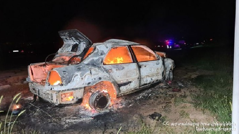 Վթար Մարգարա-Վանաձոր ճանապարհին․ այրվող մեքենայից դուրս է բերվել վարորդի դին. կա 3 տուժած