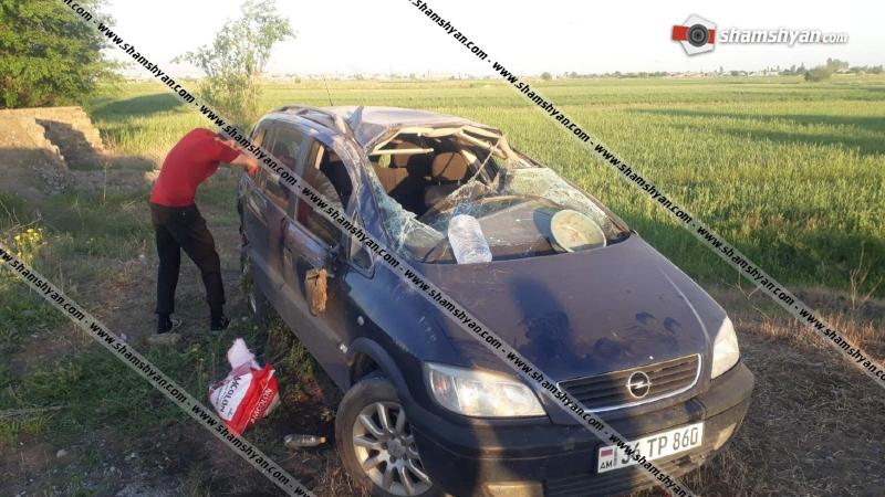 Արմավիրի մարզում 29-ամյա վաորդը, Opel-ով մեկ պտույտ շրջվելով, կողաշրջված հայտնվել է դաշտում. կա վիրավոր