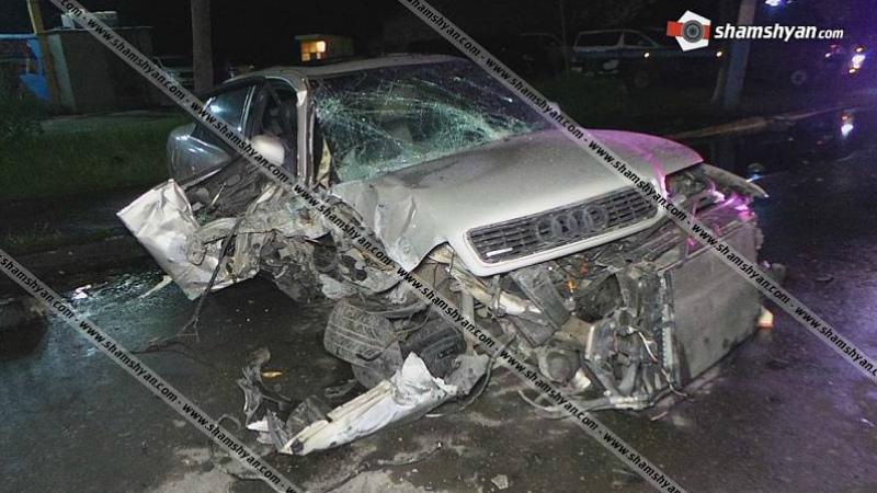 Երևանում 39-ամյա վարորդը խմած վիճակում բախվել է էլեկտրասյանը. նրան ու 5-ամյա երեխային հոսպիտալացրել են
